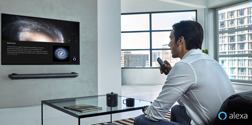 Televisores LG AI ThinQ 2019 compatibles con Amazon Alexa