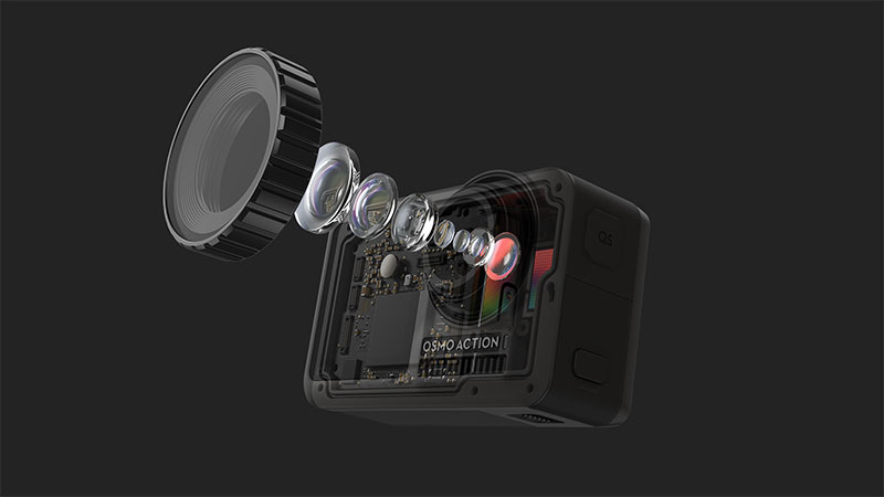 DJI Osmo Action lentes