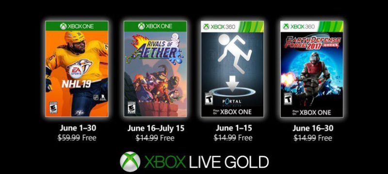 Games With Gold junio 2019