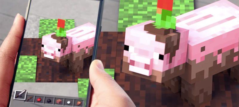 Minecraft realidad aumentada movil