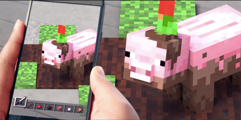 Minecraft usará realidad aumentada en su próximo juego móvil