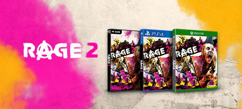 RAGE 2 lanzamiento cajas