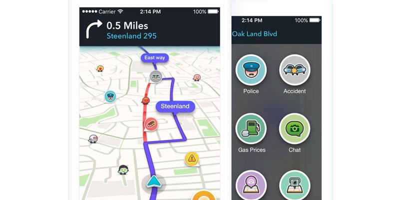 Waze te permite ver una ruta alterna para llegar a tu destino