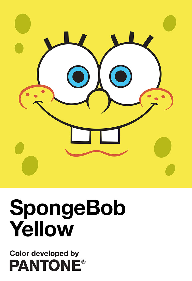 Amarillo Bob Esponja Pantone