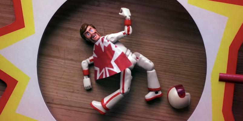 Duke Caboom, el juguete de Toy Story 4 que interpreta Keanu Reeves