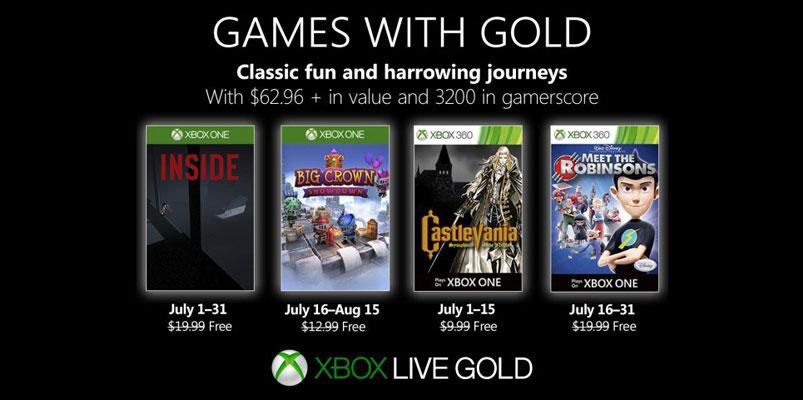 Listos los Games with Gold que tendrás en el mes de julio 2019