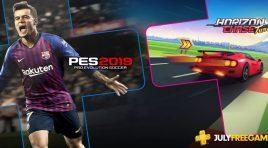 PES 2019 y Horizon Chase Turbo llegan en julio a Playstation Plus
