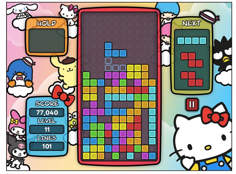 Tetris X Sanrio juego
