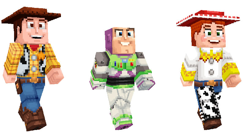 Toy Story 4 Minecraft personajes 1