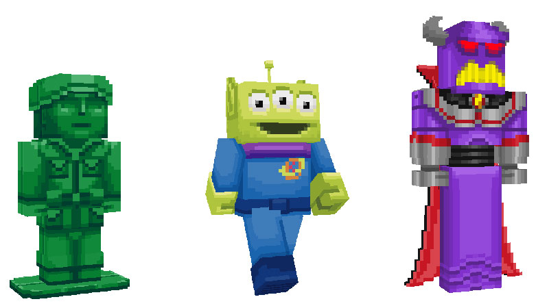 Toy Story 4 Minecraft personajes 3