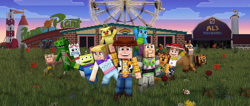 Toy Story 4 Minecraft personajes