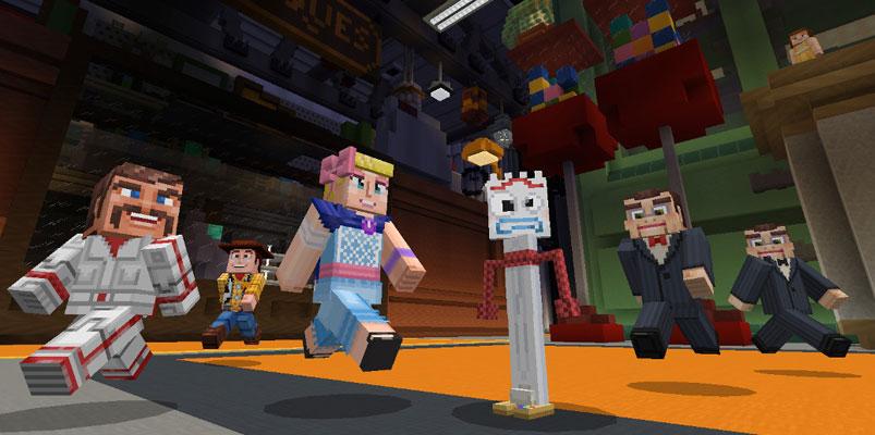 Los personajes de Toy Story 4 llegan al mundo de Minecraft