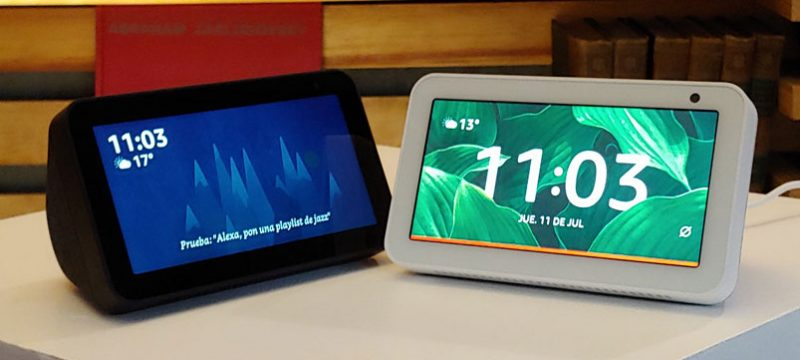 Amazon Echo Show 5 blanco negro
