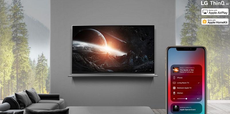 Apple AirPlay 2 y HomeKit llegan a los LG TV AI ThinQ 2019