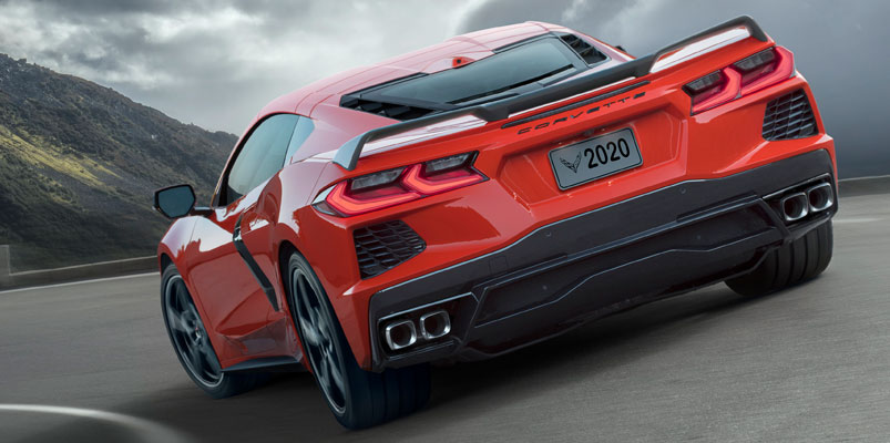 Corvette Stingray 2020 trasera