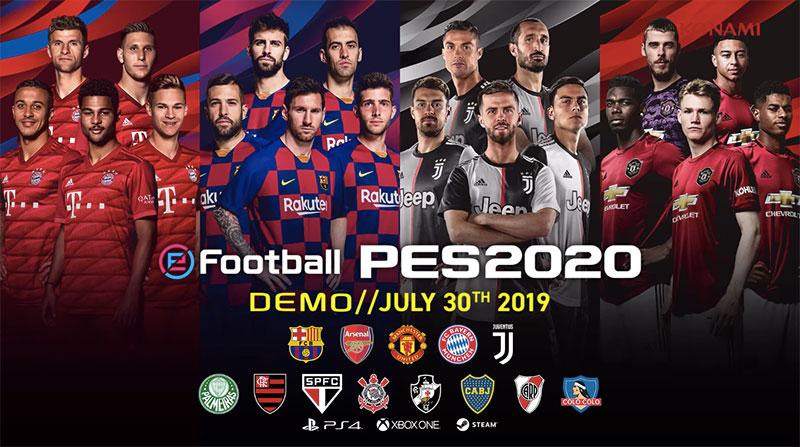 Demo eFootball PES 2020 equipos
