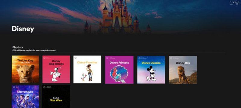 Disney hub Spotify