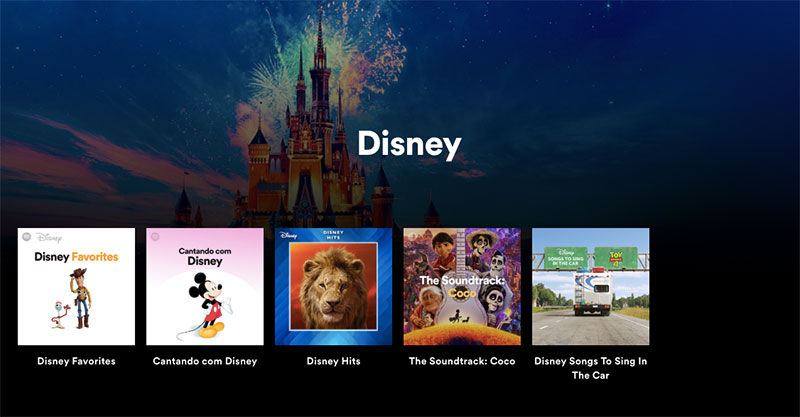 Disney hub Spotify Mexico