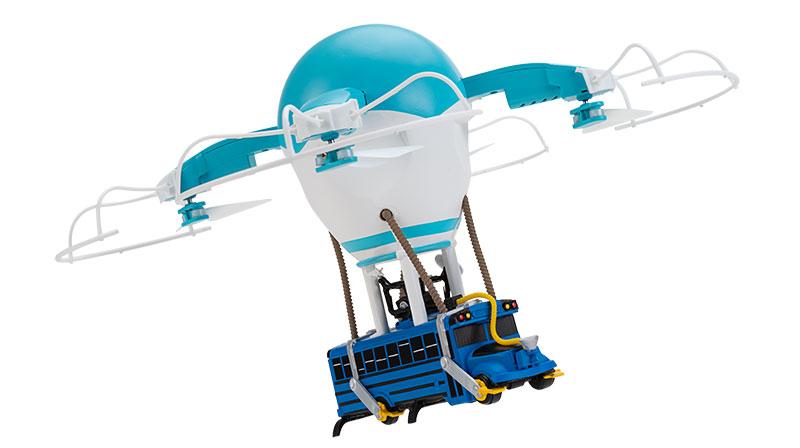 Drone Autobus de batalla Fortnite volando