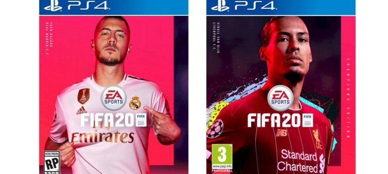 Eden Hazard y Virgil van Dijk FIFA 20