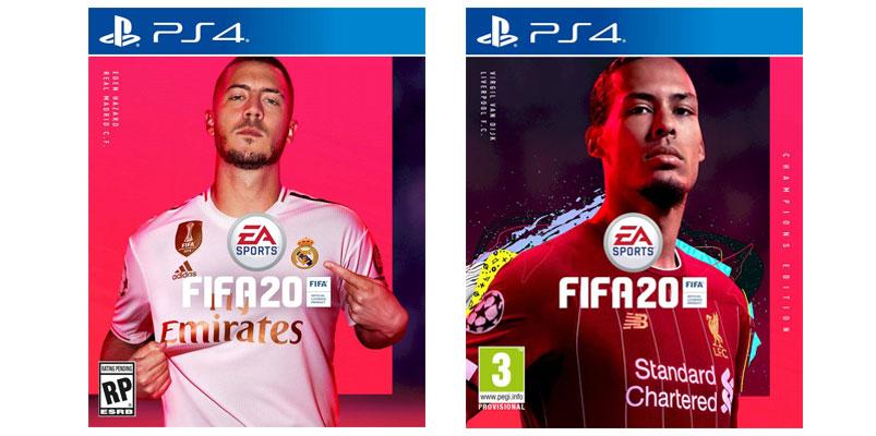 Eden Hazard y Virgil van Dijk están en la portada de FIFA 20