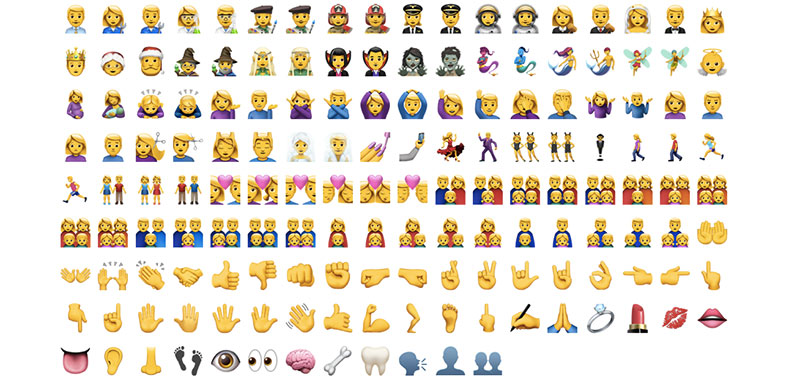 Emoji caras