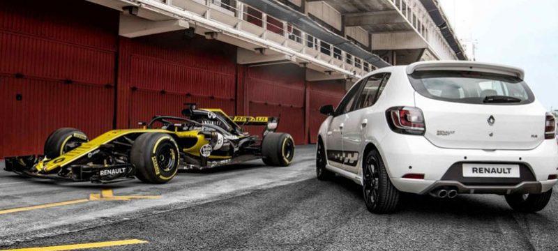 Escuderia Renault F1 monoplaza vs calle