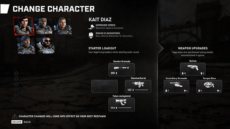 Gears 5 TechTest personaje