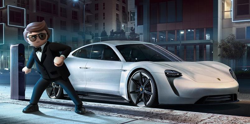 Porsche Mission E uno de los protagonistas de Playmobil: La Película