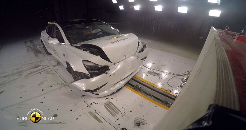 Tesla Model 3 EuroNCAP impacto