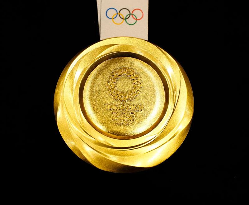 Tokio 2020 medallas sustentables oro