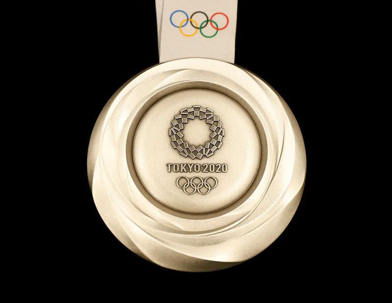 Tokio 2020 medallas sustentables plata