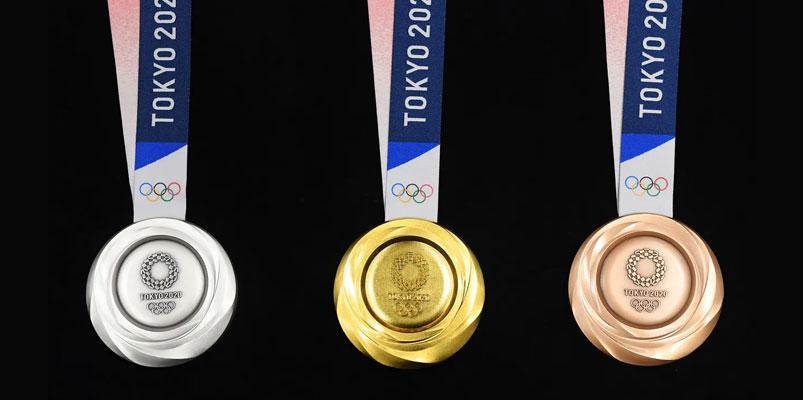 El diseño final de las medallas sustentables para Tokio 2020