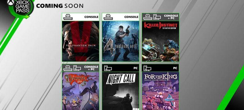 Xbox Game Pass julio 19