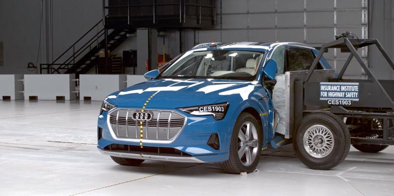 Audi e-tron es el vehículo eléctrico más seguro de Estados Unidos