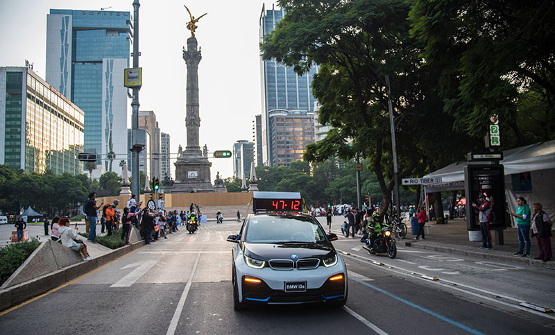 BMW i3s Maraton de la CDMX Telcel 2019 Angel