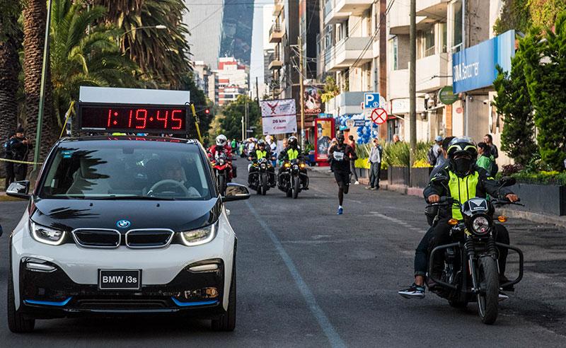 BMW i3s Maraton de la CDMX Telcel 2019 ganador