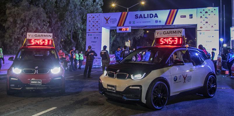 BMW i3s marcó el tiempo en el Maratón de la CDMX Telcel 2019