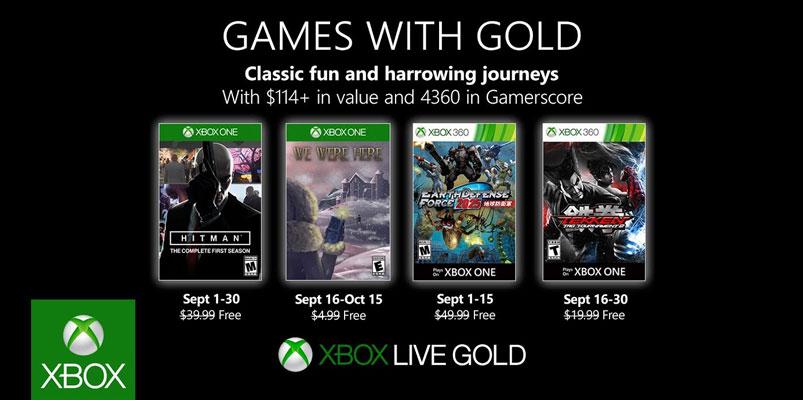 Listos los Games with Gold de septiembre 2019