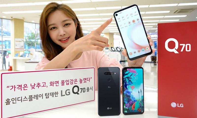 LG Q70 presentacion Corea del Sur