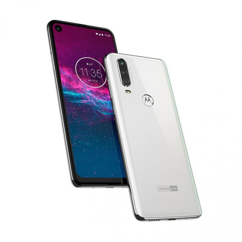 Motorola One Action filtrado blanco