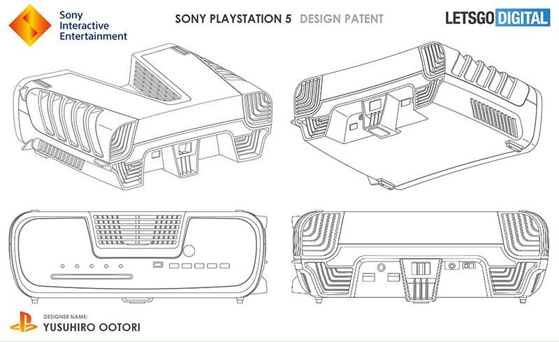 PlayStation 5 diseño patente lados