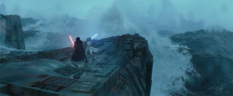 Star Wars Episodio IX The Rise of Skywalker D23 pelea