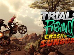 Trials Rising Crash & Sunburn
