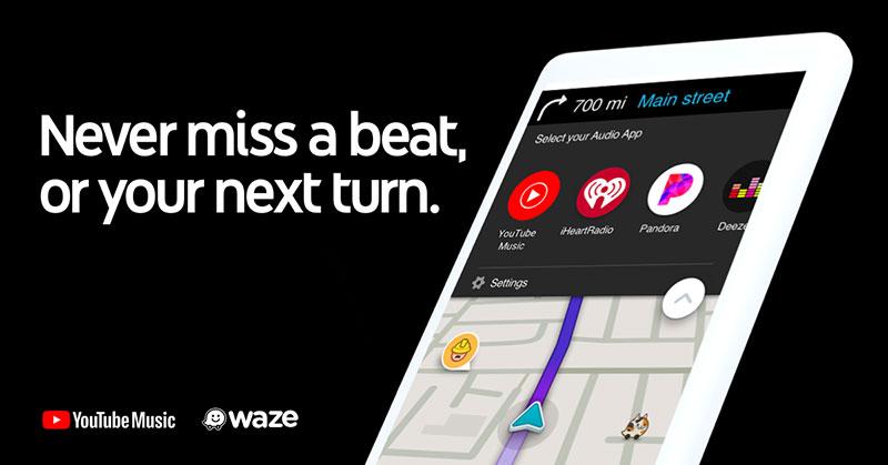YouTube Music Waze integracion