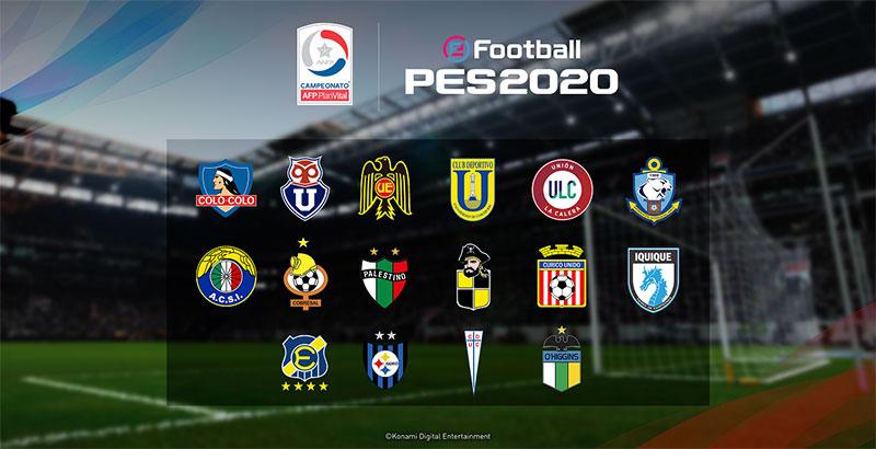 eFootball PES 2020 equipos chilenos