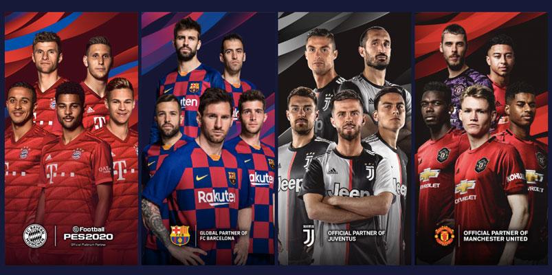 Las grandes alianzas que eFootball PES 2020 logra para este año