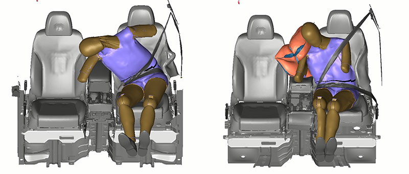 Bolsa de aire lateral central Hyundai conductor pasajero