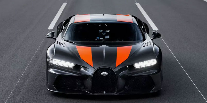 Prototipo del Bugatti Chiron el más rápido del mundo, supera los 490 km/h