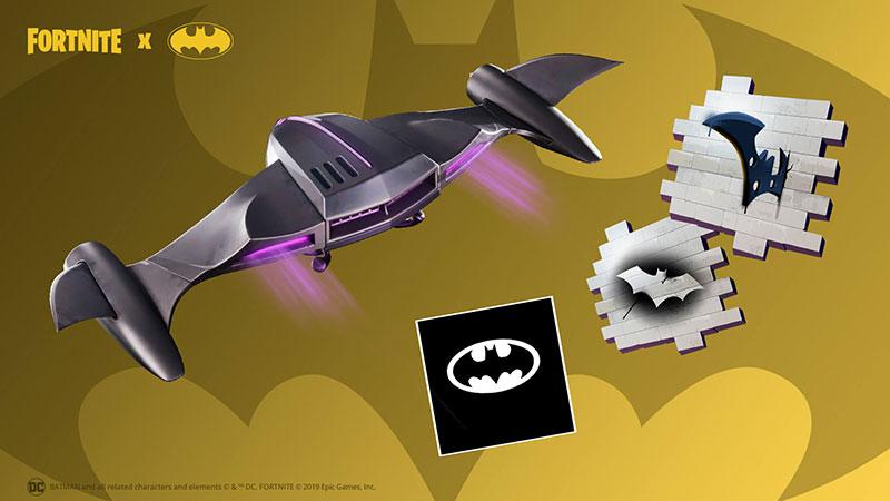 Fortnite x Batman planeador